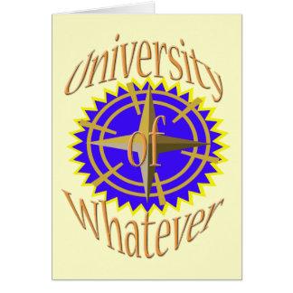 University Of Whatever Card