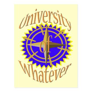 University Of Whatever Postcard