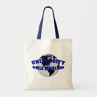 University of World Domination Canvas Bags