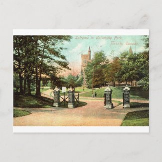 University Park, Toronto Canada 1907 Vintage postcard