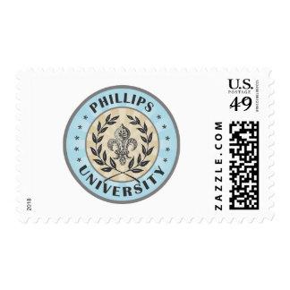 University Phillips Light Blue Postage Stamp
