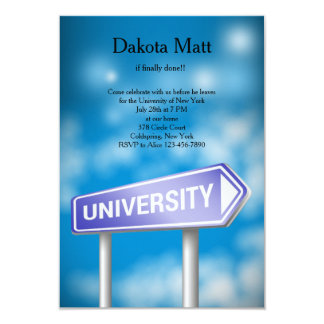 University Road Sign Party Invitation