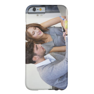 University students text messaging while using barely there iPhone 6 case