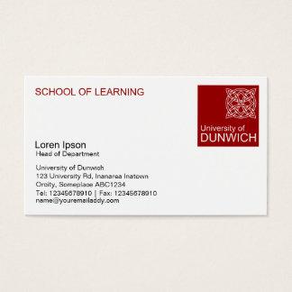 University Style - Maroon Business Card