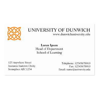 University Style v4 Business Card Template
