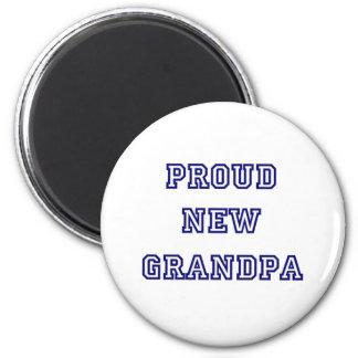 University Text Proud New Grandpa Refrigerator Magnets