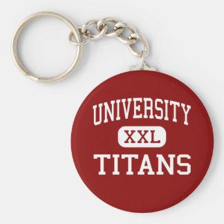 University - Titans - High - Spokane Washington Basic Round Button Keychain