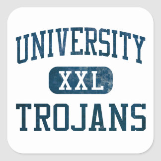 University Trojans Athletics Square Sticker