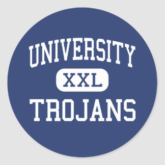 University - Trojans - High - Irvine California Classic Round Sticker