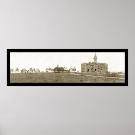 University Wyoming Laramie Photo 1908 Print