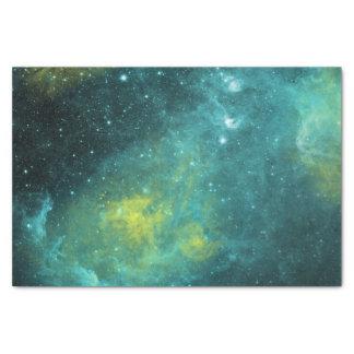 Universo amarillo verde de la nebulosa de la papel de seda pequeño