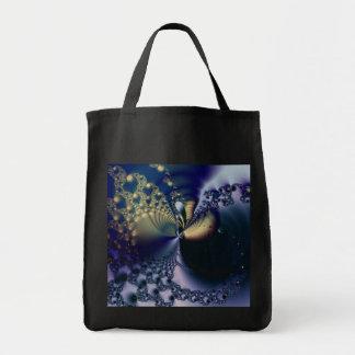Universo · Arte del fractal · Azul y oro Bolsa Tela Para La Compra