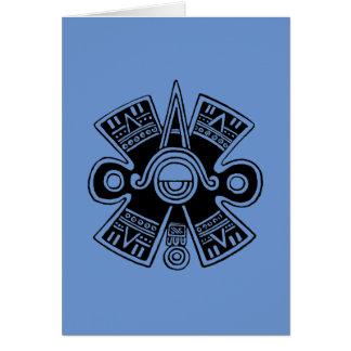 Universo azteca tarjeta pequeña