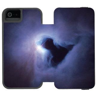 Universo azul de la NASA del espacio del ojo de la Funda Cartera Para iPhone 5 Watson