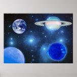 Universo azul posters