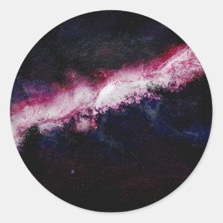 Universo de la galaxia del inconformista pegatinas redondas