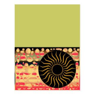 Universo de la luna de Sun, plantilla, postales ve
