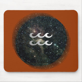 Universo de la muestra de la estrella del zodiaco  alfombrilla de raton