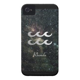 Universo de la muestra de la estrella del zodiaco iPhone 4 cárcasa