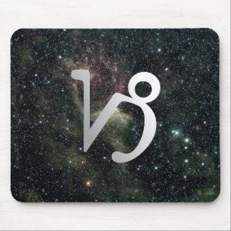 Universo de la muestra de la estrella del zodiaco  tapete de ratón