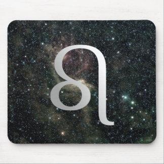 Universo de la muestra de la estrella del zodiaco  tapete de raton