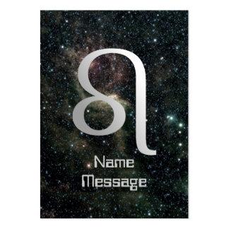 Universo de la muestra de la estrella del zodiaco  tarjetas de visita