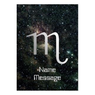 Universo de la muestra de la estrella del zodiaco  plantilla de tarjeta de negocio