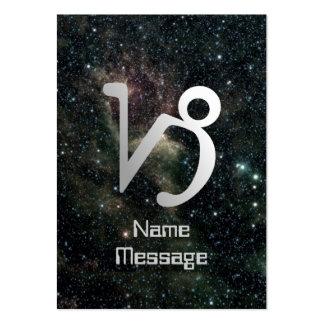 Universo de la muestra de la estrella del zodiaco  tarjetas personales