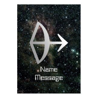Universo de la muestra de la estrella del zodiaco  tarjeta de visita