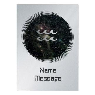 Universo de la muestra de la estrella del zodiaco  tarjetas de negocios