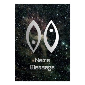 Universo de la muestra de la estrella del zodiaco  tarjeta de negocio