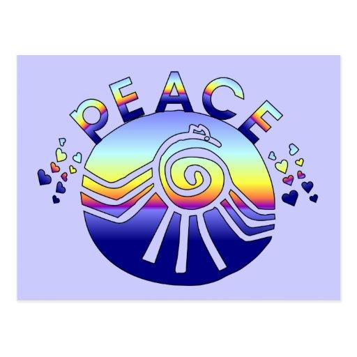 Universo de la paz postales
