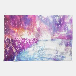 Universo del arco iris de Venecia Toalla