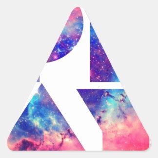 """Universo del """"juego"""" pegatina triangular"""