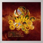 Universo del MANTRA el | de OM Lotus y de GAYATRI  Póster