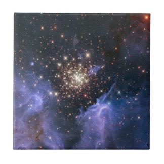 Universo del racimo de Starburst Azulejo Ceramica