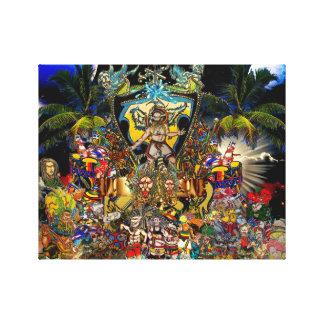 Universo del reggae impresión en lienzo estirada