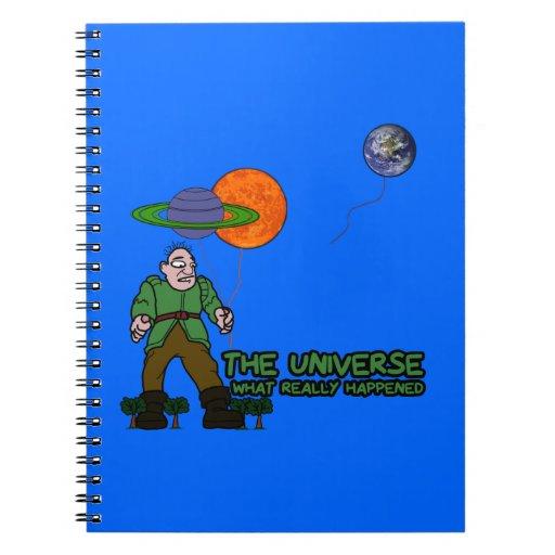 Universo divertido libros de apuntes con espiral