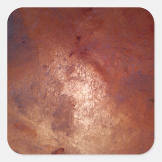 Universo en cuarzo pegatina cuadrada