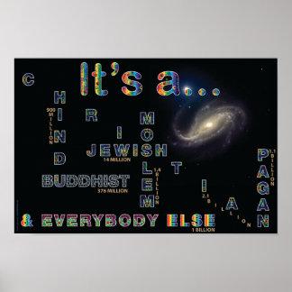 Universo multi de la creencia de Itsa Posters