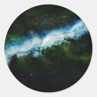 Universo oscuro de la galaxia del inconformista pegatinas redondas