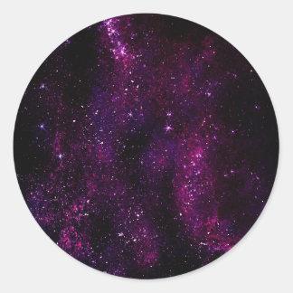 Universo oscuro de la galaxia del inconformista etiquetas redondas