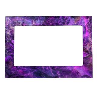Universo púrpura marcos magneticos para fotos