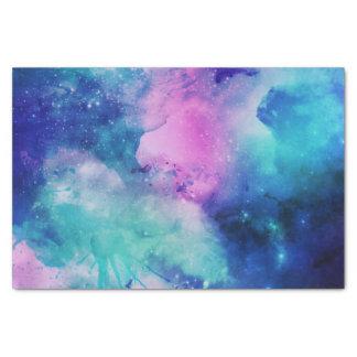 Universo rosado azul de la nebulosa de la estrella papel de seda pequeño