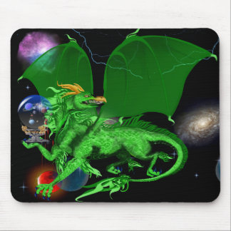 Universo verde Dragon_Mousepad Alfombrillas De Raton