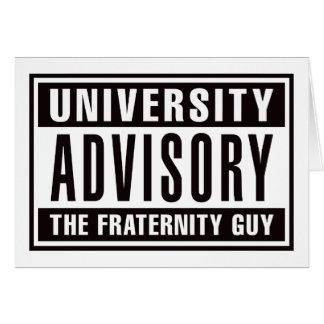 Univserity Advisory The Guy Card