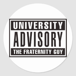 Univserity Advisory The Guy Classic Round Sticker