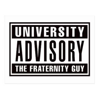 Univserity Advisory The Guy Postcard