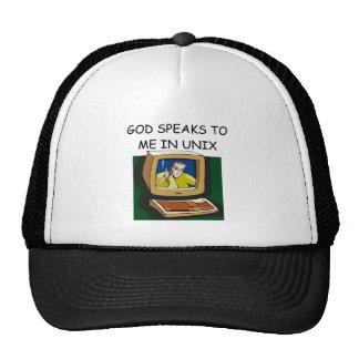 unix computer geek trucker hat