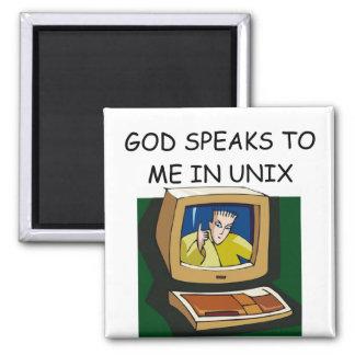 unix computer geek magnet